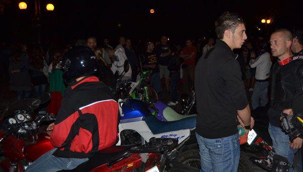 Массовая антицыганская акция протеста в Софии завершилась под рев моторов байкерских мотоциклов