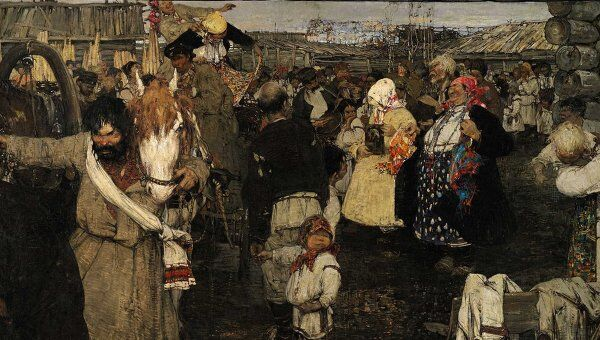 Николай Фешин. Увоз невесты (Черемисская свадьба)