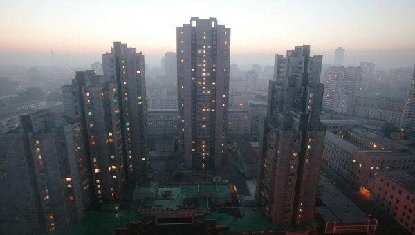 Центральная часть столицы КНДР города Пхеньяна