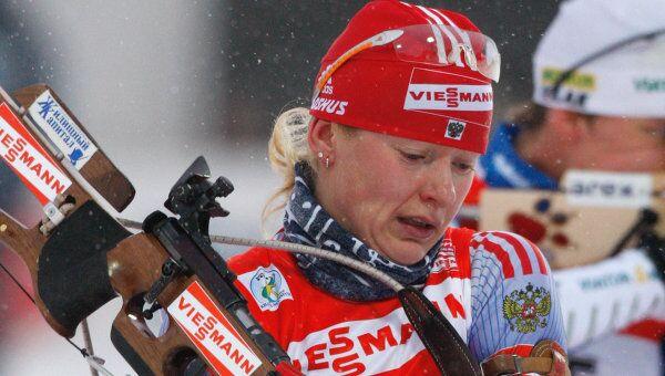 Биатлонистка Екатерина Юрьева
