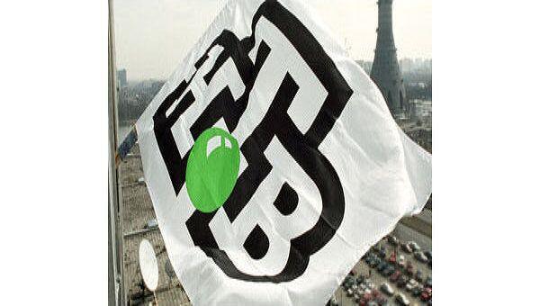 Полотнище с логотипом телекомпании НТВ