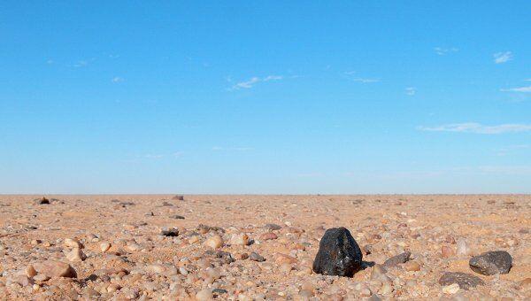 Фрагмент метеорита Альмахата Ситта, упавшего в Судане в 2008 году