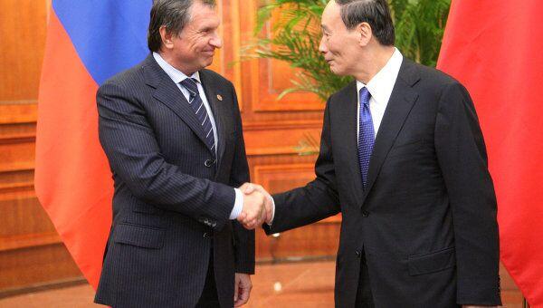 Рабочая поездка вице-премьер РФ И.Сечина в Китай