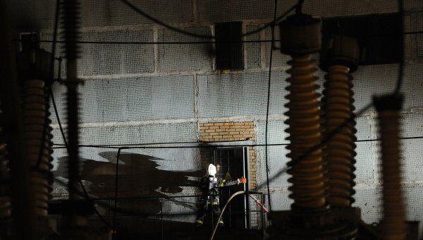 Возгорание на электроподстанции Баскаково в Москве