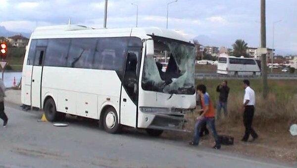 Видеокадр ДТП в турецком городе Анталья, где пострадали российские туристы
