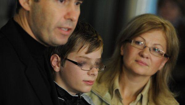 Прилет Ирины Бергсет со старшим сыном Сашей в Москву