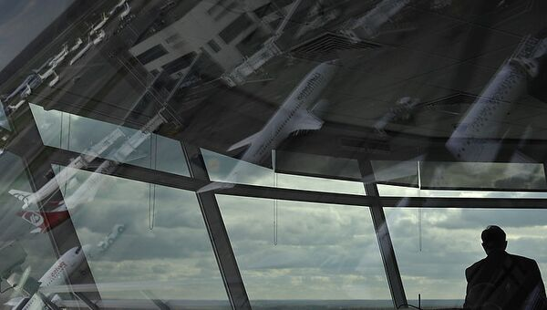 Авиадиспетчеры на вышке аэропорта Домодедово