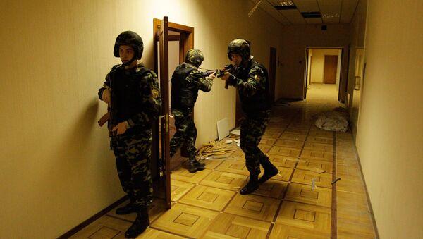 Учения ФСО в Кремле
