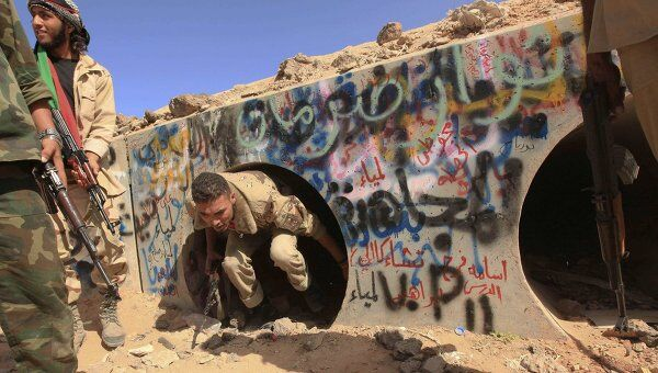 Место, где был захвачен в плен Муамар Каддафи