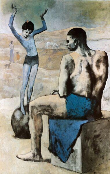 Картина Пикассо Девочка на шаре
