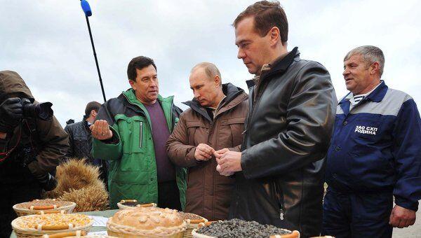 Рабочая поездка Д.Медведева и В.Путина в Ставрополь