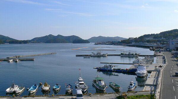 Порт в городе Офунато провинции Иватэ в Японии