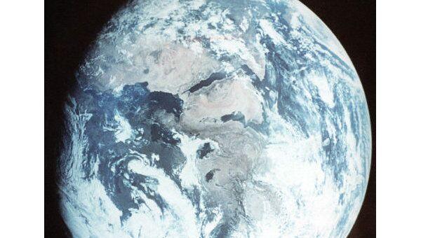 Планета Земля, вид их космоса. Архив