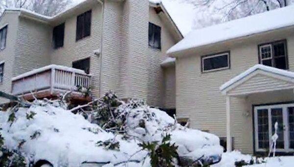 Снежная буря обрушилась на восточное побережье США