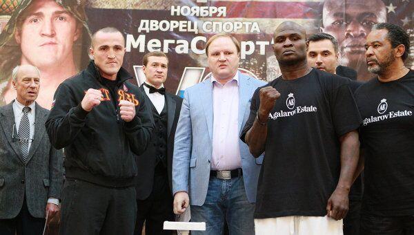 Денис Лебедев и Джеймс Тони (слева направо)