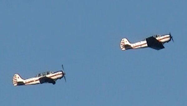 Самолеты времен Великой Отечественной войны пролетели над Самарой
