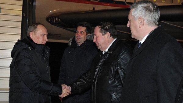 Премьер-министр РФ В.Путин прибыл в Архангельск