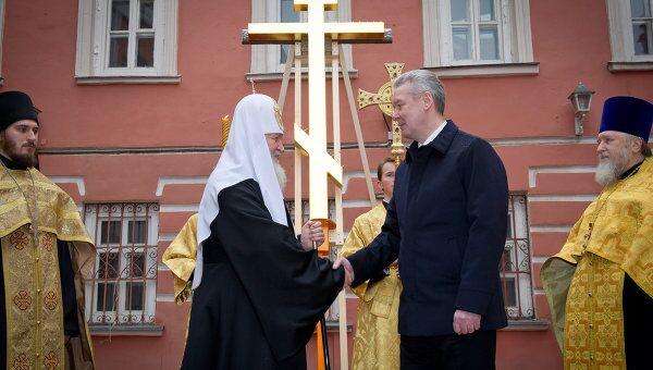 С.Собянин посетил строящийся православный храмовый комплекс