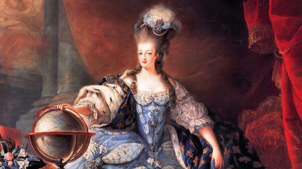 Жан-Батист Готье Даготи Королева Франции Мария-Антуанетта в коронационном наряде, 1775. Архив