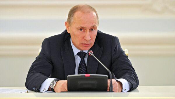 Встреча премьер-министра РФ В.Путина с представителями германского бизнеса