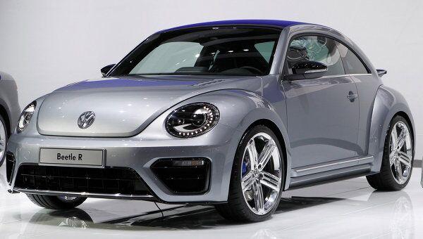 Volkswagen Beetle R на автосалоне в Лос-Анджелесе. Архив