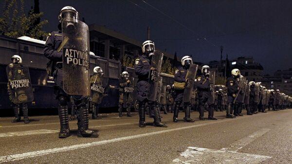 Полиция у посольства США в Афинах