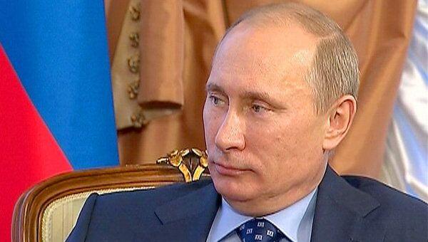 Путин на встрече с Фийоном перечислил сферы сотрудничества России и Франции