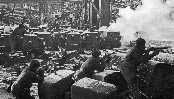 Бои в Сталинграде в дни Великой Отечественной войны