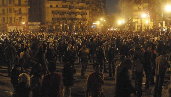 Протестующие на площади Тахрир в Египте
