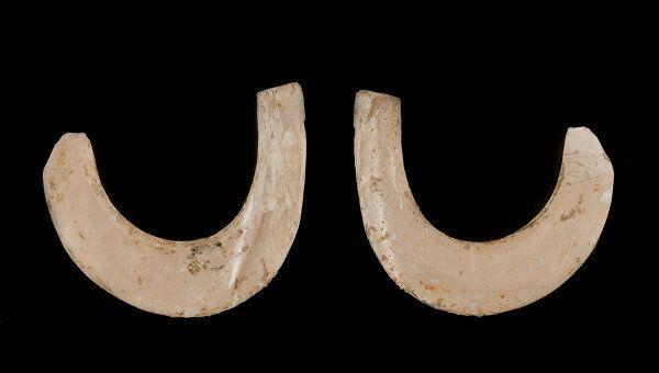 Крючки первых рыболовов, выточенные из раковины моллюска примерно 23 тысячи лет назад
