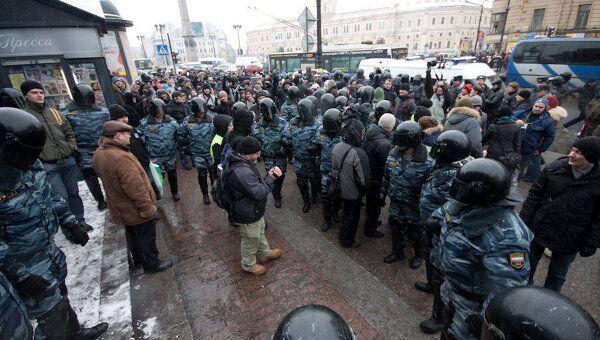 Митинг выборы акция оппозиция задержания Петербург