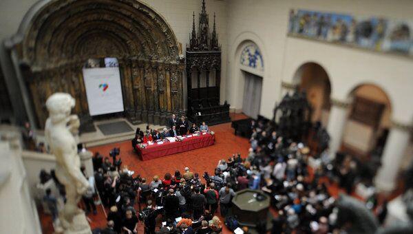 Открытие выставки работ Микеланджело да Караваджо в ГМИИ имени А.С. Пушкина. Архив