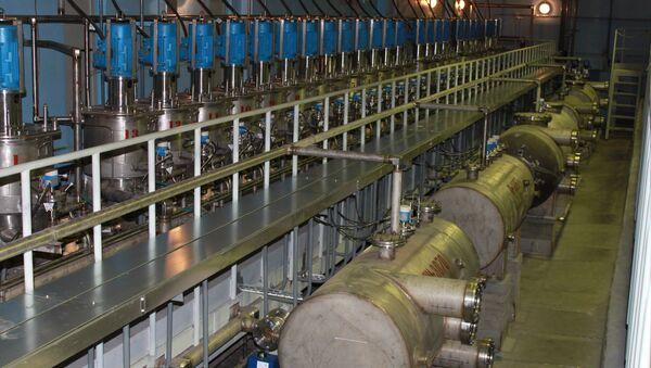 Установка экстракционного аффинажа урана. Архивное фото