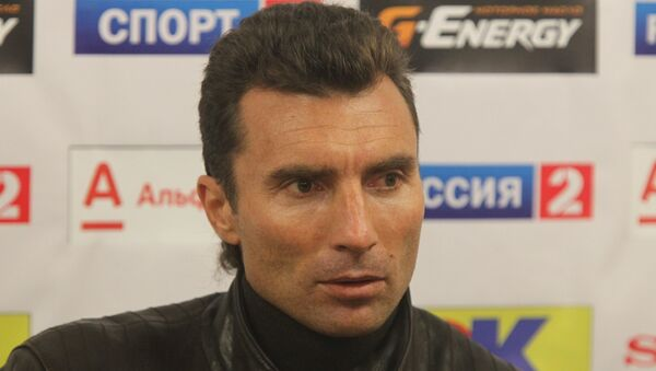 Тренер Александр  Григорян. Архивное фото