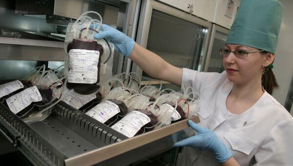 Работа автономной мобильной станции заготовки крови. Архивное фото