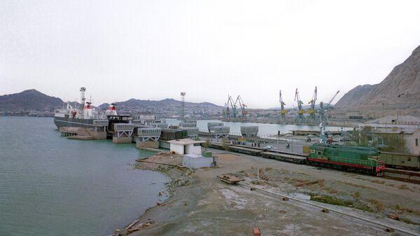 Порт на Каспийском море. Архивное фото