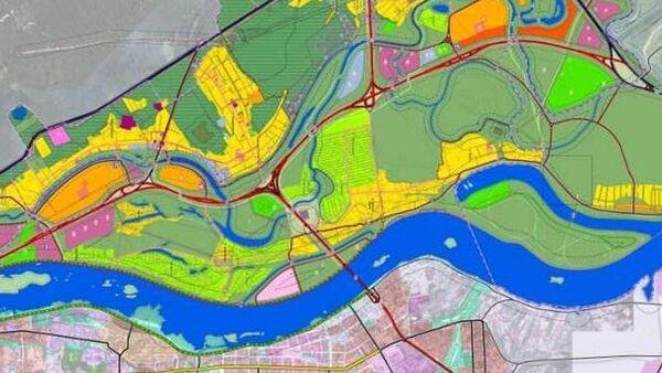 Схема планировки территории Левобережья Томска