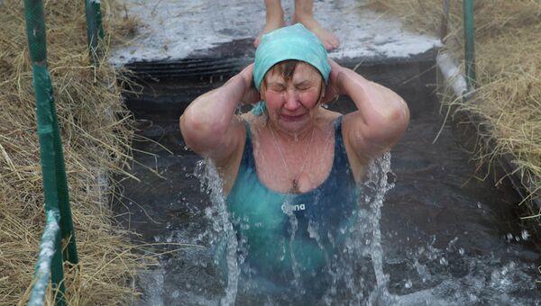Крещенские купания на Белом озере