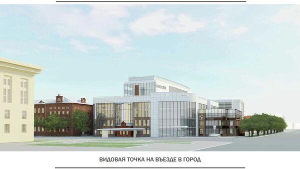 Проект торгово-офисного центра на въезде в Томск
