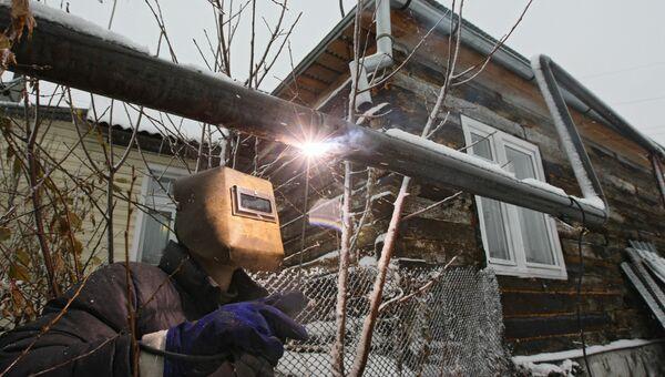 Монтаж газопровода в частном секторе Новосибирска