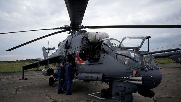 Заправка и обслуживание транспортно-боевого вертолета МИ-24, Архивное фото