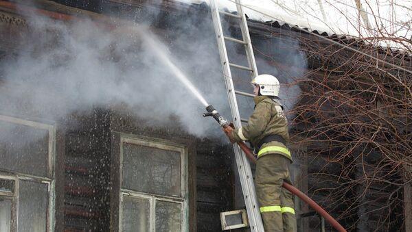 Пожар на улице Аптекарской в Томске