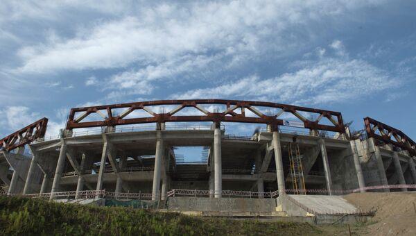 Строящийся стадион Зенита в Санкт-Петербурге