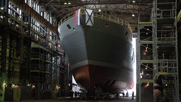 Строительство поисково-спасательного судна Игорь Белоусов на Адмиралтейских верфях. Архивное фото