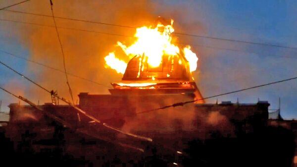 Пожар в Технологическом институте в Петербурге. Съемка очевидца