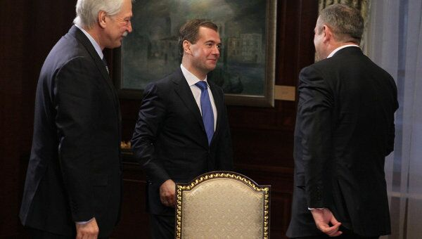 Президент РФ Д.Медведев провел встречу с руководством партии Единая Россия