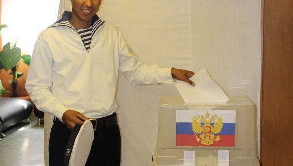 Экипажи кораблей ТОФ в Аденском заливе проголосовали досрочно