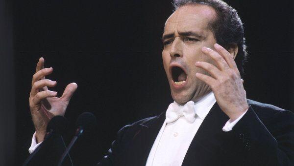 Хосе Каррерас, испанский оперный певец (тенор). Архивное фото