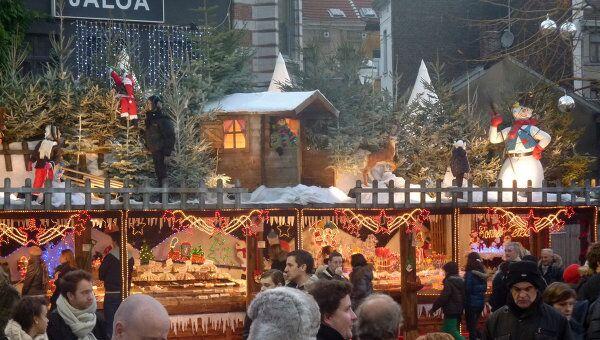 Рождественская ярмарка в Брюсселе