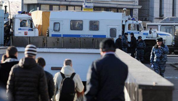 Военнослужащие внутренних войск МВД России в Москве
